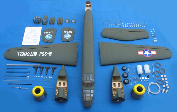 B25 Army Nitro RC Plane