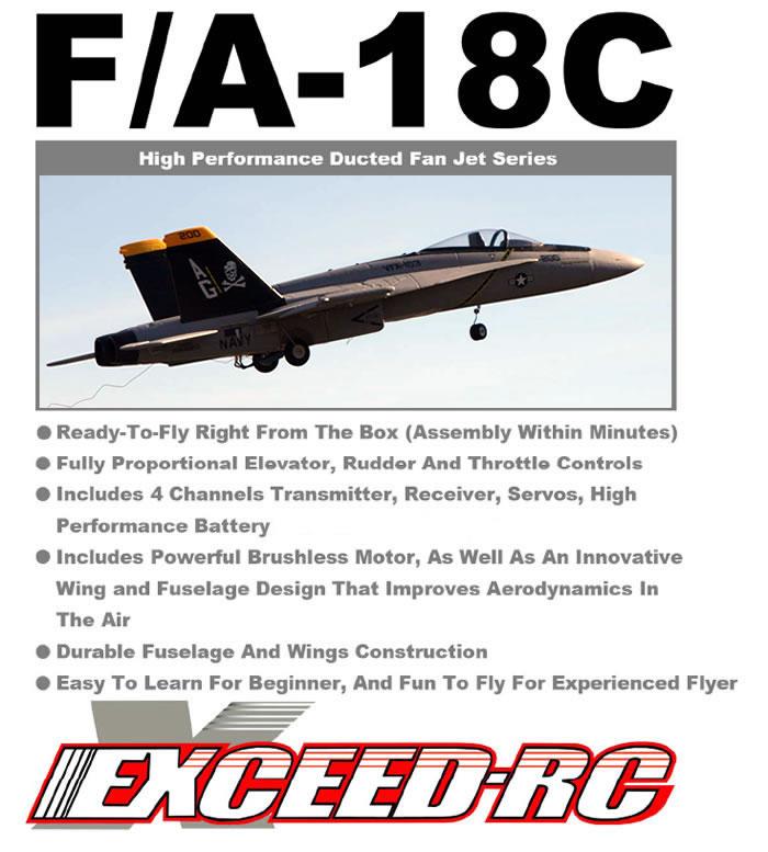 F/18-18C EDF RC Jet Navy