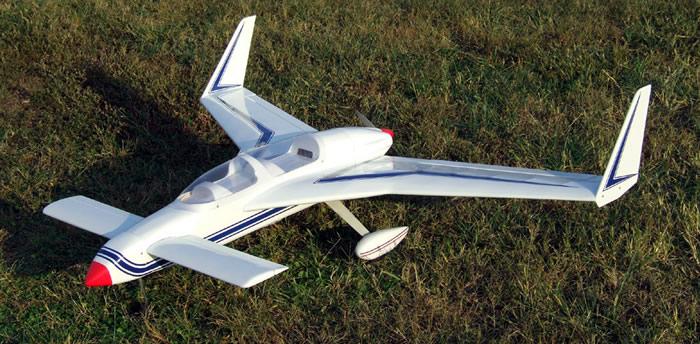 Arf long ez 46 pusher nitro gas radio remote control rc plane